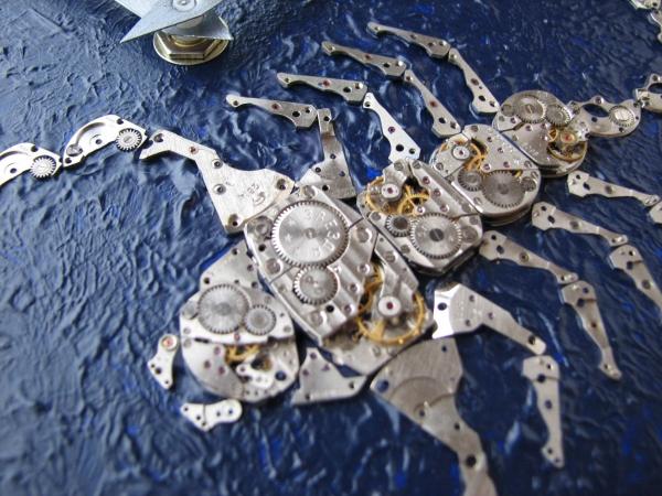 Настенные часы в стиле стимпанк (псевдостимпанк) (Фото 7)