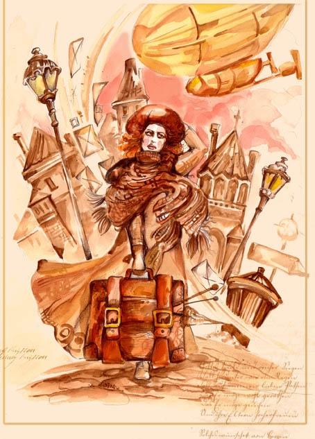 "Стимпанк-открытка: фан-арт на ""Indicator"" Deine Lakaien"