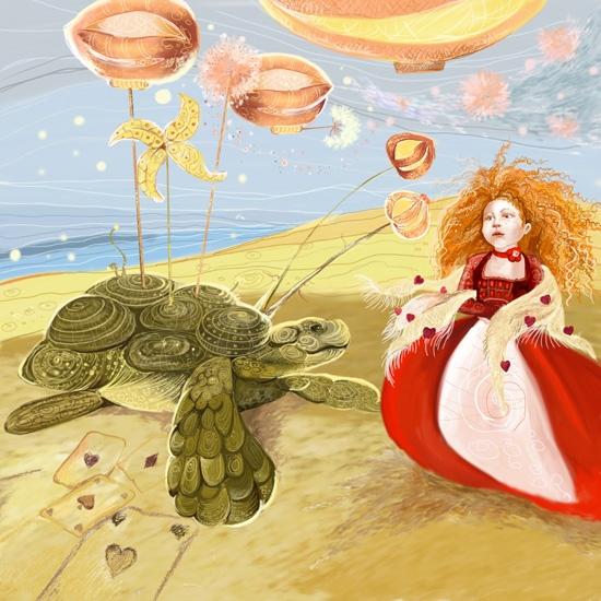 Алиса,пустынное море, дирижабли