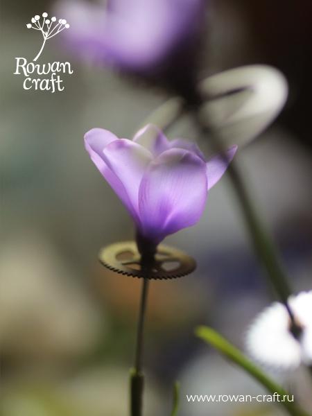 Стимпанковские цветы из глины. (Фото 2)