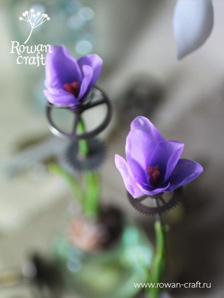 Стимпанковские цветы из глины. (Фото 6)