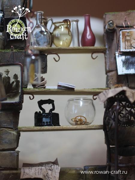 """Миниатюра-стимпанк: """"Мастерская ботаномеханика"""" (Фото 12)"""