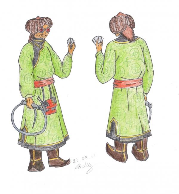 монгольский художник эскиз 5