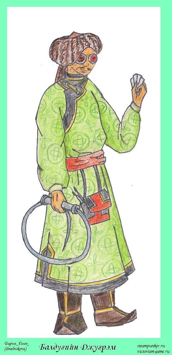 монгольский художник в рамке