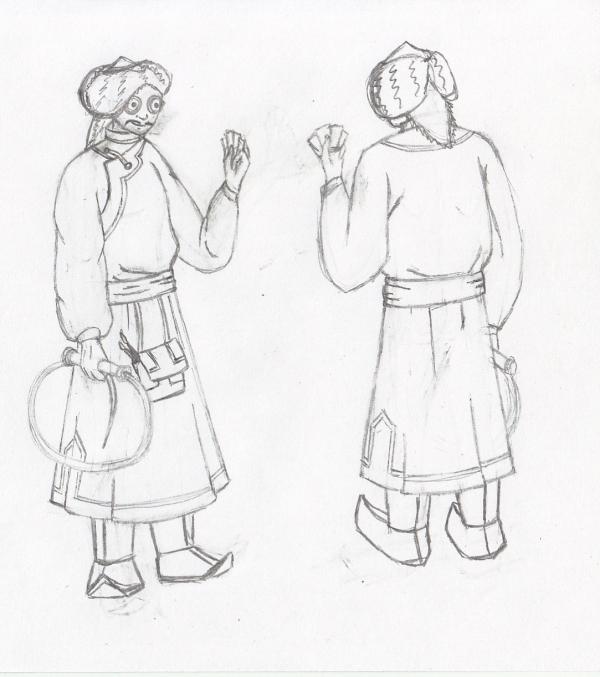 монгольский художник эскиз 4