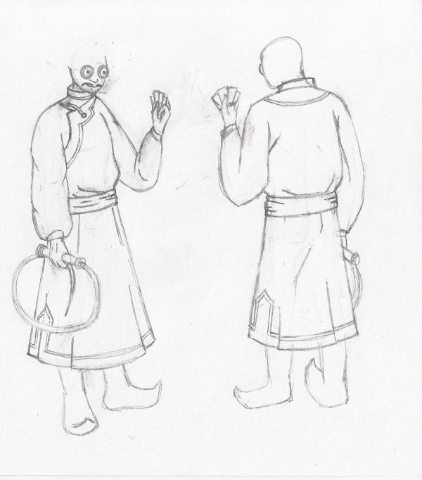 монгольский художник эскиз 3