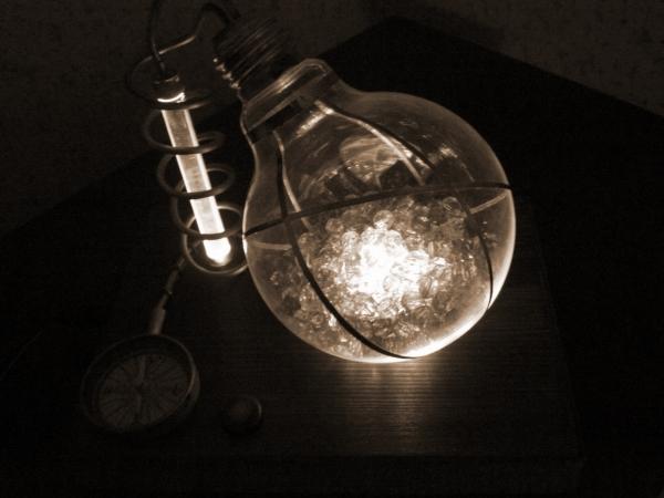 Ночник из лампы.