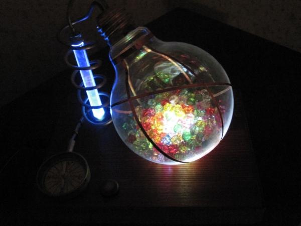 Ночник из лампы. (Фото 19)