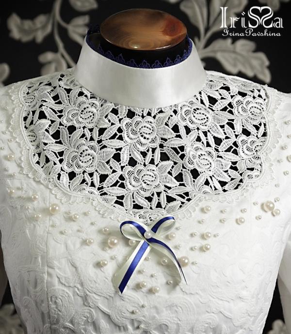 Свадебное платье в викторианском стиле с турнюром. (Фото 7)