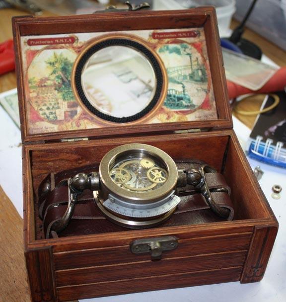 Дизель-стимпанк часы «Praetorius mechanics, magic tools & artefacts» в подарочной коробке.(ПРОДАНЫ)