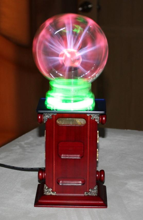 """Тесла-Стимпанк лампа. """"Плазма-шар""""(ПРОДАНО)"""