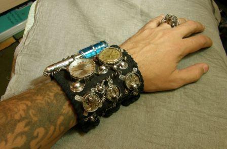 Кожаный браслет с часами + перстень (Фото 2)