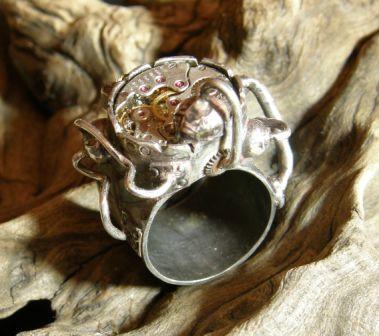 Кожаный браслет с часами + перстень (Фото 3)