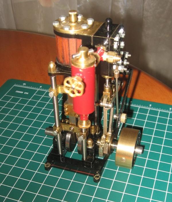 Катерная одноцилиндровая паровая машина