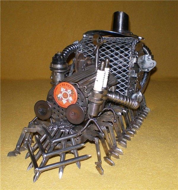 Сороконожка на паровом двигателе с рекуператором.