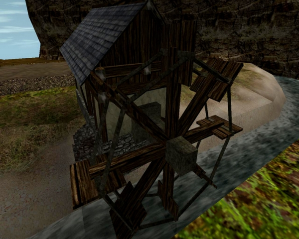 Водяная мельница в одном из модов