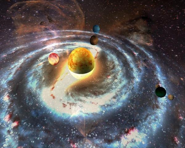 Модель звёздной системы. Не спрашивайте, как это устроено
