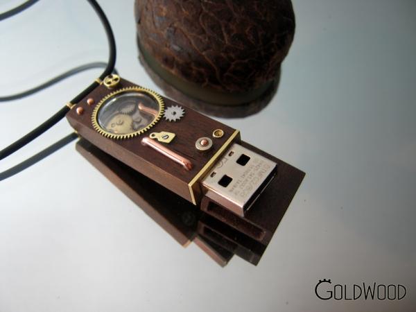 """Флешка """"Иллюминатор"""". Шоколадное дерево. 8 гб (Фото 2)"""