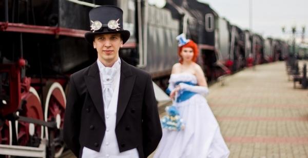 Маленькая челябинская стимпанк-свадьба (Фото 7)