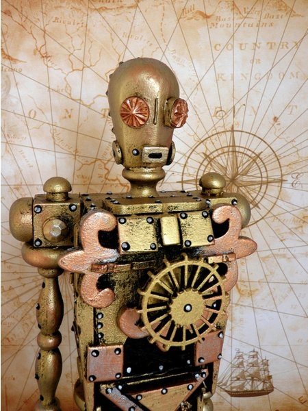 Космические роботы от Джордана , счел их стимпанком! (Фото 6)
