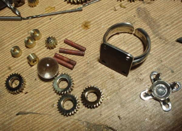 """Перстень с шестеренками и хрустальным магическим шаром (""""Хватит ломать часы!"""" - часть вторая) (Фото 8)"""