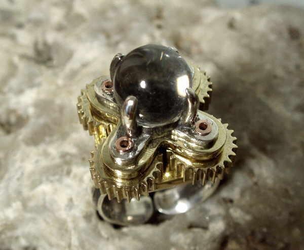 """Перстень с шестеренками и хрустальным магическим шаром (""""Хватит ломать часы!"""" - часть вторая) (Фото 10)"""