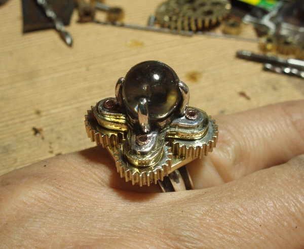 """Перстень с шестеренками и хрустальным магическим шаром (""""Хватит ломать часы!"""" - часть вторая) (Фото 9)"""