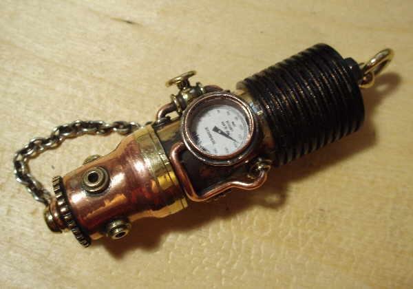 Флешка дизельпанк круглая, с колпачком на резьбе. (Фото 15)