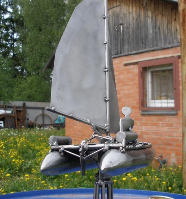 Металлическая скульптура - приз. Не стимпанк. (Фото 5)