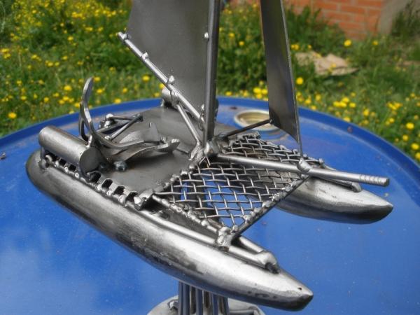 Металлическая скульптура - приз. Не стимпанк. (Фото 4)