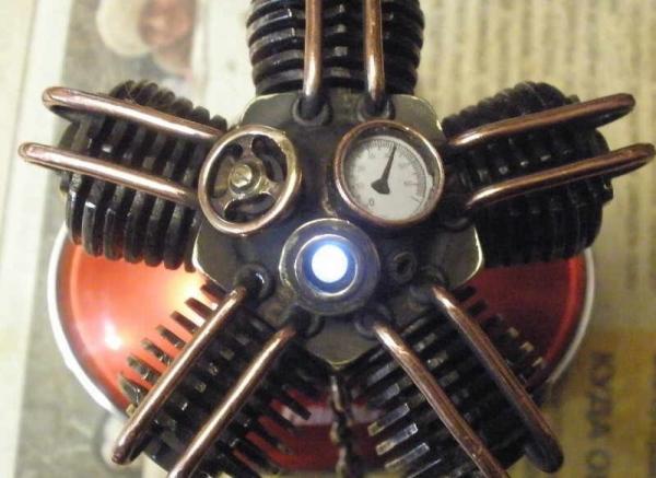 "Флешка - авиамотор, пятицилиндровая ""звезда"". (Фото 12)"