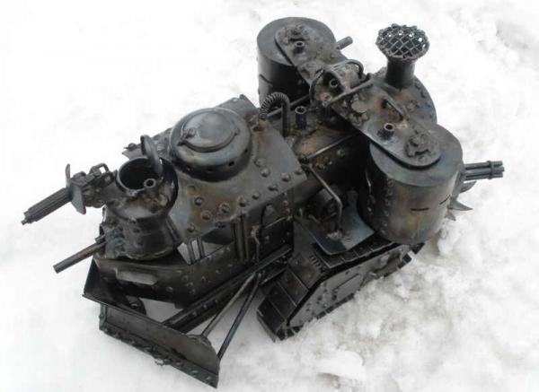 Стим-танк, гусеничный бронепоезд. Ко дню Защитника отечества. (Фото 12)