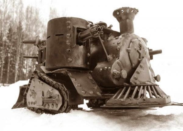 Стим-танк, гусеничный бронепоезд. Ко дню Защитника отечества. (Фото 2)