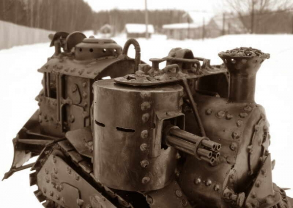 Стим-танк, гусеничный бронепоезд. Ко дню Защитника отечества. (Фото 9)