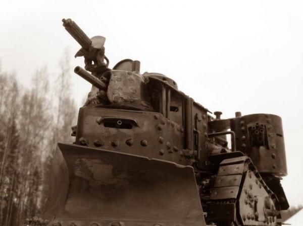 Стим-танк, гусеничный бронепоезд. Ко дню Защитника отечества. (Фото 7)