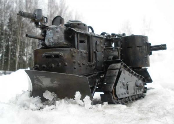 Стим-танк, гусеничный бронепоезд. Ко дню Защитника отечества. (Фото 3)