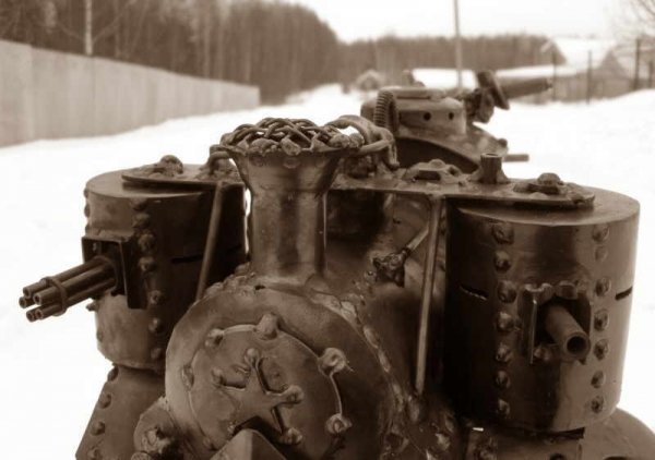 Стим-танк, гусеничный бронепоезд. Ко дню Защитника отечества. (Фото 10)