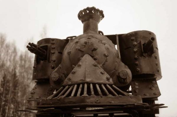 Стим-танк, гусеничный бронепоезд. Ко дню Защитника отечества. (Фото 5)
