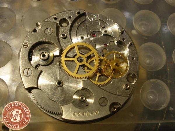 """Часы стимпанк, наручные, скелетон. На конкурс """"Время"""". (Фото 3)"""