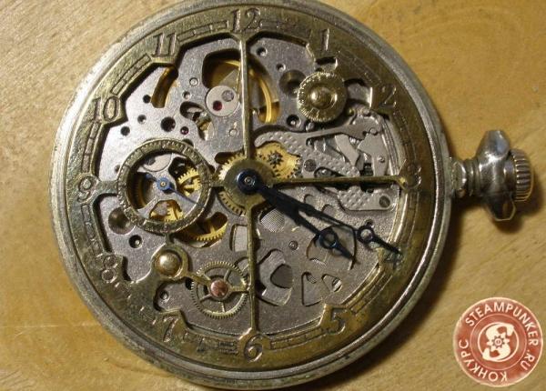 """Часы стимпанк, наручные, скелетон. На конкурс """"Время"""". (Фото 6)"""
