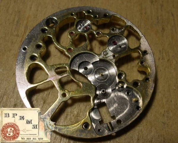 """Часы стимпанк, наручные, скелетон. На конкурс """"Время"""". (Фото 24)"""