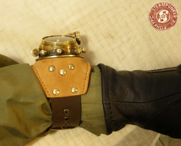 """Часы стимпанк, наручные, скелетон. На конкурс """"Время"""". (Фото 74)"""