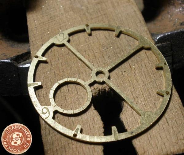 """Часы стимпанк, наручные, скелетон. На конкурс """"Время"""". (Фото 19)"""