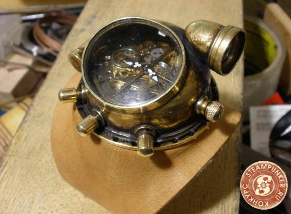 """Часы стимпанк, наручные, скелетон. На конкурс """"Время"""". (Фото 63)"""
