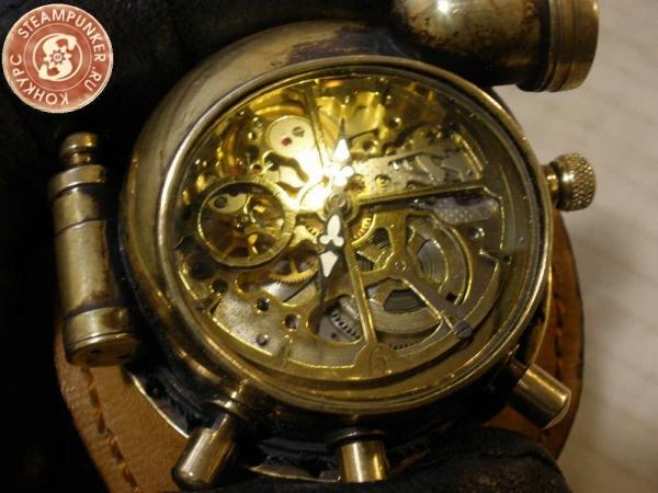 """Часы стимпанк, наручные, скелетон. На конкурс """"Время"""". (Фото 75)"""