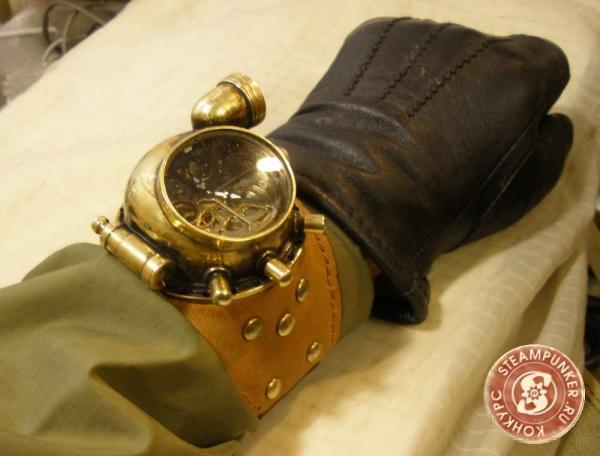 """Часы стимпанк, наручные, скелетон. На конкурс """"Время"""". (Фото 72)"""