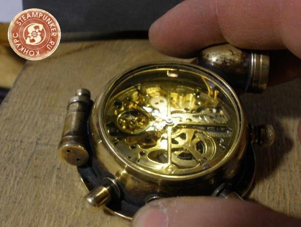"""Часы стимпанк, наручные, скелетон. На конкурс """"Время"""". (Фото 54)"""