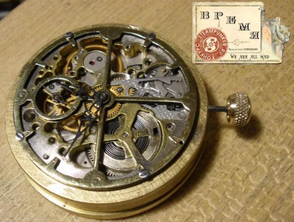 """Часы стимпанк, наручные, скелетон. На конкурс """"Время"""". (Фото 27)"""
