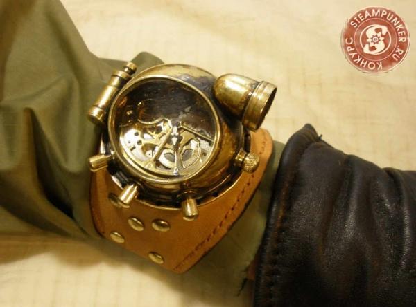 """Часы стимпанк, наручные, скелетон. На конкурс """"Время"""". (Фото 73)"""