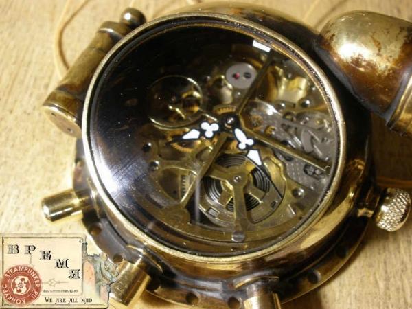 """Часы стимпанк, наручные, скелетон. На конкурс """"Время"""". (Фото 43)"""